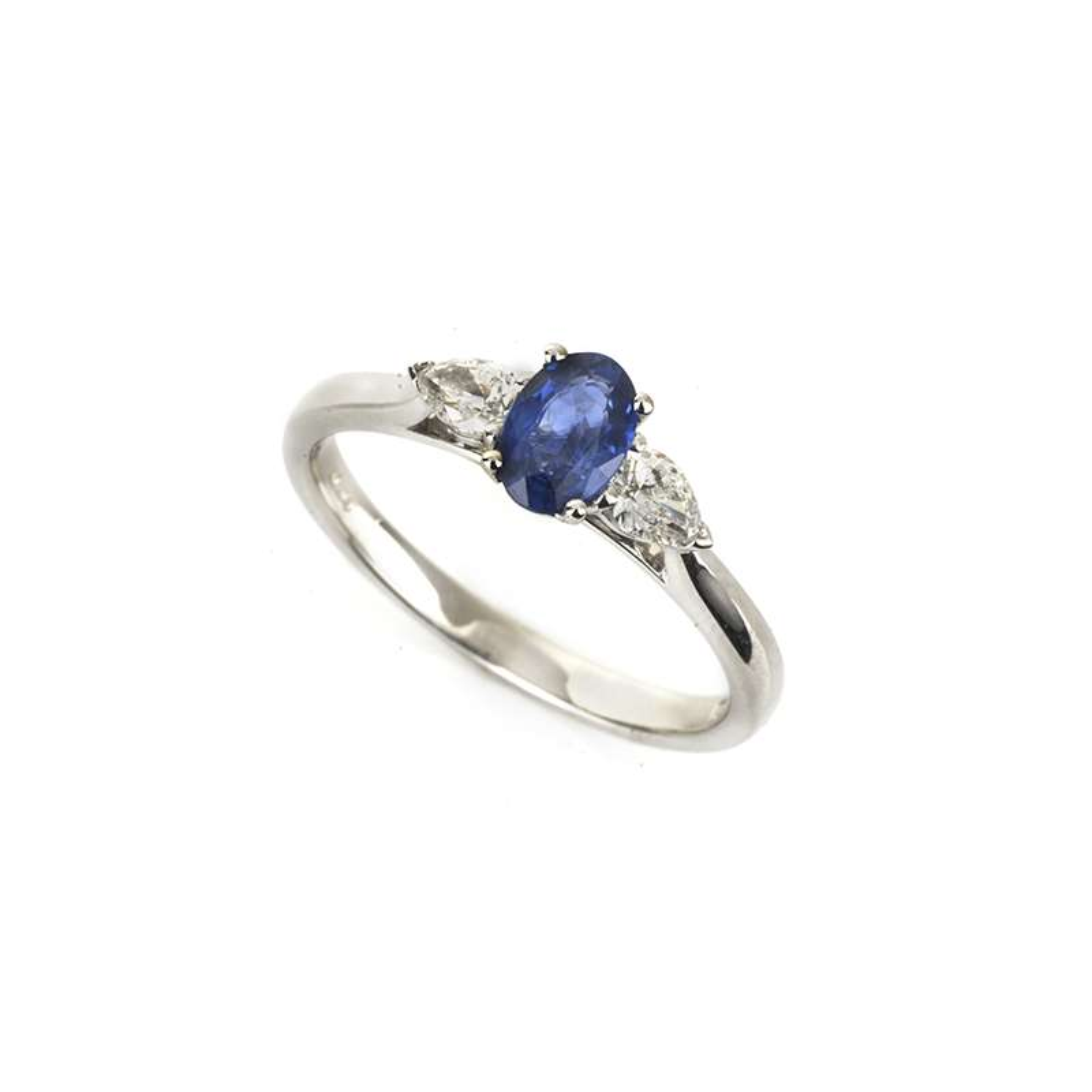 18k White Gold Sapphire and Diamond Ring 0.26ct